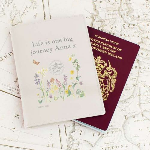 Personalised Country Diary Wild Flowers Passport Holder